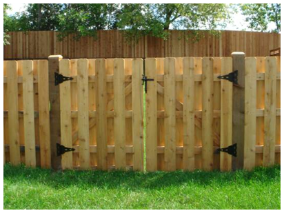 Wood Fence Gate in Arlington Heights, IL